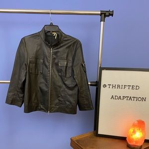 Max Studio special edition leather jacket